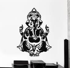 Vinyl Wall Decal Ganesha Head Elephant Indian God Hinduism Stickers Mu Wallstickers4you
