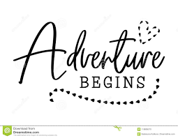 adventure begins wedding typography design groom and bride