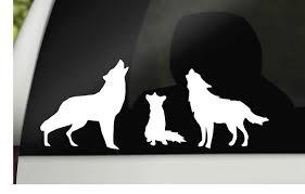 Wolf Family Car Decal Car Window Sticker Family Wolf Decal Car Sticker Family Window Cling Silhouette Win Family Car Decals Car Window Stickers Car Decals