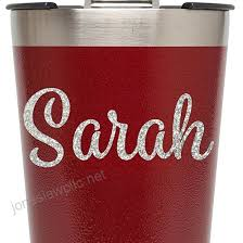 Glitter Name Vinyl Decal For Rtic Ozark Trail And Yeti Tumblers Laptops Macbooks Bridesmaid Gifts Etc Style 9 Handmade B071cfn7mz