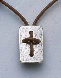 leather cross shield necklace mens