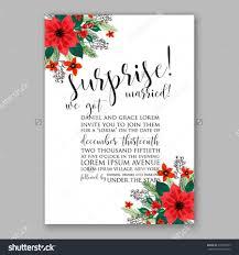 poinsettia wedding invitation sle