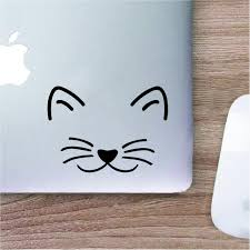 Cute Cat Face Asian Maneki Neko Lucky Cat Log Symbol Decal Etsy