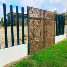 China Customized Steel Fence Panel Aluminum Gate Swing Gate Laser Cut Screen Decorative Panel China Aluminum Fence Laser Cutting Screen