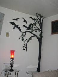 Creepy Black Poster Board Tree And Crows Fall Decor Poster Board Gothic Home Decor