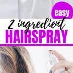 homemade alcohol free hair spray that