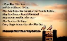 sister happy new year quotes new year wishes for sister