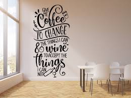 Vinyl Wall Decal Kitchen Quote Motivation Phrase Coffee Wine Cafe Deco Wallstickers4you
