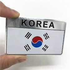 Korea Korean Flag Car Emblem Badge Motorcycle Fuel Tank Decal Sticker Motorcycle Accessories Motorcycle Accessories Motorcycle Emblems