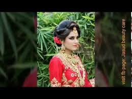 indian bridal look makeup and hairstyle
