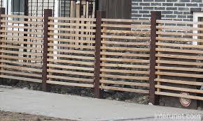 Horizontal Wood Fence Steel Posts Picture Interunet
