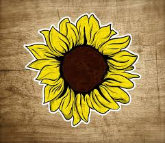 Amazon Com Sunflower Sticker Yellow Cute Colorful Flower Flowers Vinyl Decal 3 Stickers Graphic Auto Wall Laptop Cell Truck Sticker For Windows Cars Trucks Automotive