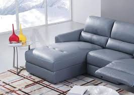 blue gray top grain italian leather