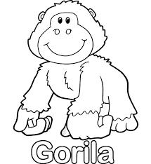 Colorear Gorila