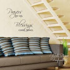 Prayers Go Up Blessings Come Down Quote Wall Sticker Inspirational Quote Wall Decal Easy Wall Art Cut Vinyl Stickers Q133 Sticker Pictures Stickers Redsticker Aliexpress