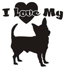 I Love My Chihuahua Decal Sticker