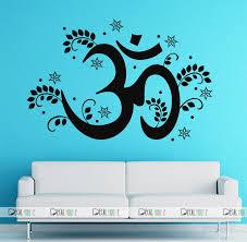 Wall Decal Vinyl Om Symbol Mandala Yoga Bohemian Decor 395 Decalhouse