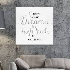 Shop Oliver Gal Chase Your Dream Typography And Quotes Wall Art Canvas Print Black White Overstock 28633680