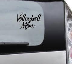 Vinyl Car Decal Volleyball Mom Decal For Tumbler Car Mug Etsy