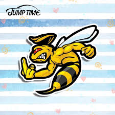 Jump Time 13cm X 11 5cm Angry Bee Vinyl Warp Decal Car Stickers Helmet Decal For Car Body Windshield Bumper Diy Funny Sticker Car Stickers Aliexpress