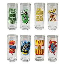 justice league drinking glasses