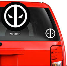 Amazon Com Deadpool Logo Vinyl Decal Sticke For Car Windows Laptop Wall Room 5 5 Inches White Arts Crafts Sewing