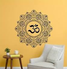 Mandala Vinyl Wall Decal Om Symbol Wall Sticker Flower Life Cutout Bedroom Yoga Ebay