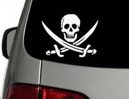 Jolly Roger Pirate Flag Skull Swords Vinyl Decal Car Sticker Choose Size Color Ebay Car Decals Vinyl Car Stickers Vinyl Decals