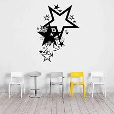 Amazon Com Ceciliapater Rta50 Stars Big Star Small Stars Stardom Sky Rock Star Fashion Star Bedroom To Be Star Wall Decal Vinyl Decor Sticker Bedroom Office Home Kitchen