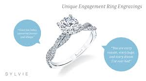 ideas for unique r tic engagement ring engravings