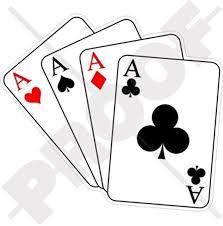 Amazon Com Four Aces Casino Playing Cards Poker Ace 4 4 110mm Vinyl Bumper Sticker Decal Automotive
