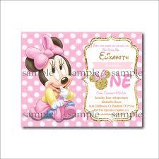 14 Unids Lote De Invitaciones De Cumpleanos De Minnie Mouse Para