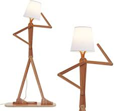 Hroome Modern Contemporary Decorative Wood Floor Lamp Reading Standing Adjustable Light For Kids Boys Girls Living Room Bedroom Office Farmhouse With Led Bulb Ash Amazon Com