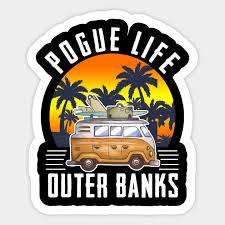 Pogue Life Outer Banks Retro Vintage Sunny Pogue Life Outer Banks Retro Vintage Sticker Teepublic