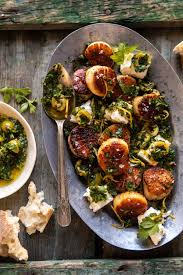 Herbed Garlic Butter Scallops with ...