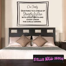 Our Family Is A Circle Of Strength And Love With Every Birth And Every Union The Circle Grows Family And Friends Wall Decals Wall Quotes Wall Murals Fa015ourfamilyi Swd