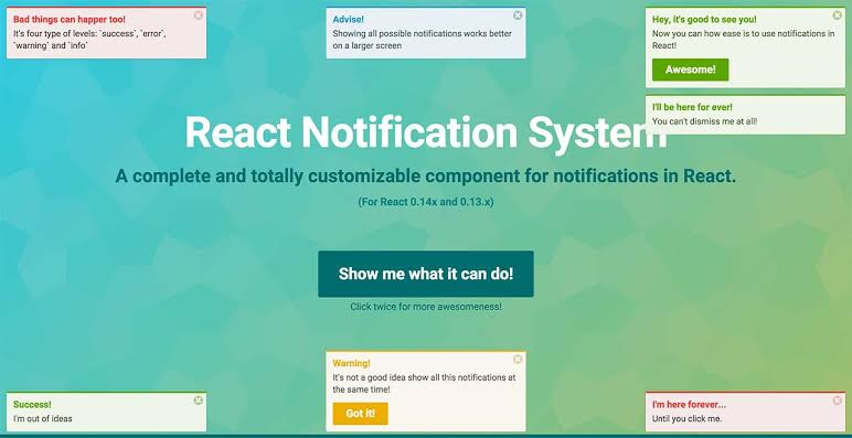 Image result for React Notification System""