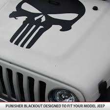 Punisher Jeep Blackout Hood Alphavinyl