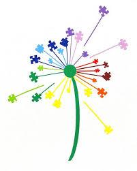 Autism Puzzle Piece Dandelion Car Decal Autism Etsy