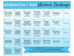 30 day advanced strength hiit workout