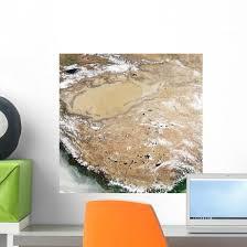 Satellite Tibetan Plateau Wall Decal Wallmonkeys Com