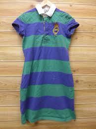 short sleeves rugby shirt dress dress