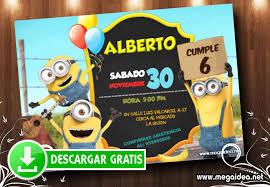 Minions Invitaciones Para Imprimir Gratis Mega Idea
