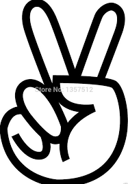 Peace Symbol Vinyl Decal Sticker Car Bumper Window Laptop Boat Love Sign Decor