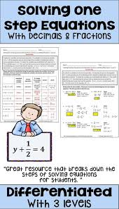 one step equations with fractions and