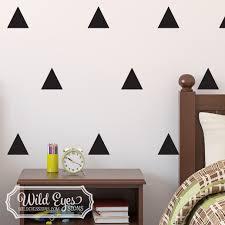 Triangles Vinyl Wall Decal Nursery Toddler Room Geometric Wall Pattern
