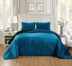 vcny jordan solid quilt teal blue