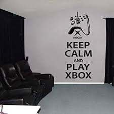 Amazon Com Tioua Wall Decal Sticker Gamer Game Zone Decor Wall Decals Keep Calm And Play Xbox One Wall Sticker Decal Quote Bedroom Boys Room Decoration Poster Home Kitchen