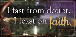 Image result for fast on doubt feast on faith clipart