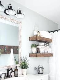rustic wood bathroom shelves